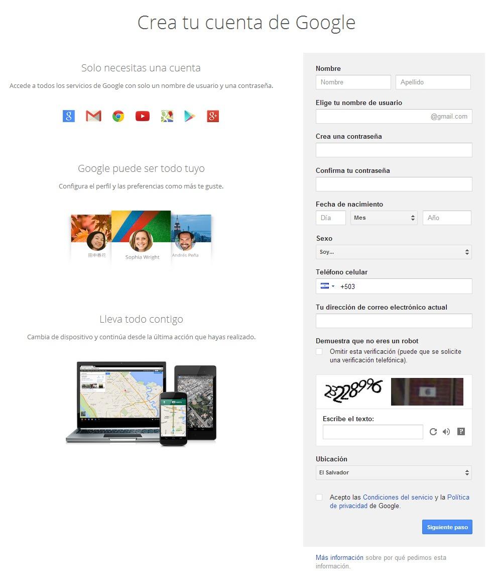 Cuentas de Google