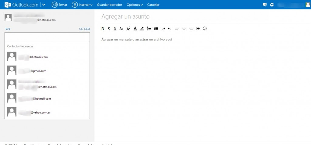 Como enviar un correo por Outlook (Hotmail)