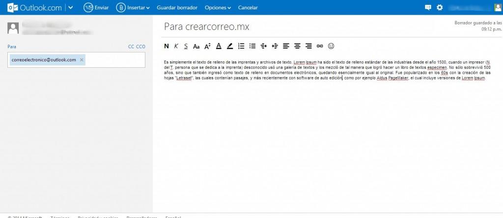 Como enviar un correo por Outlook (Hotmail)