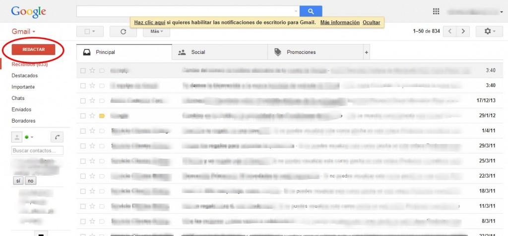 Como Enviar un Correo por Gmail
