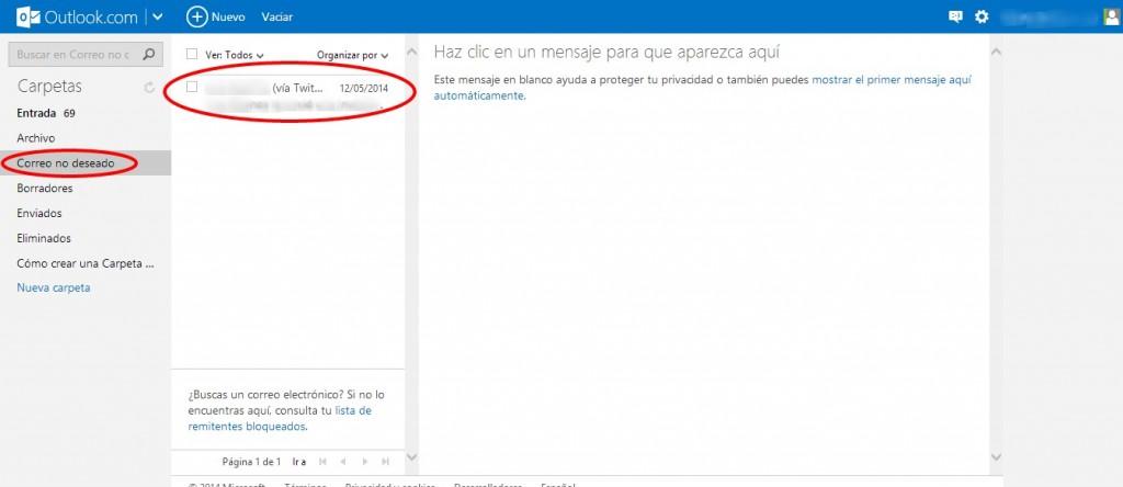 Cómo marcar como spam correos en Gmail