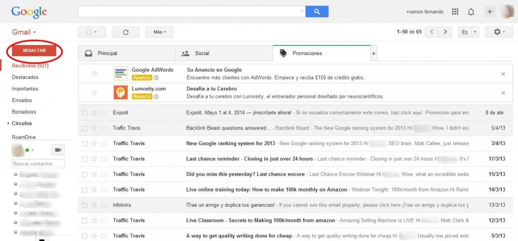 Como enviar una imagen por Gmail