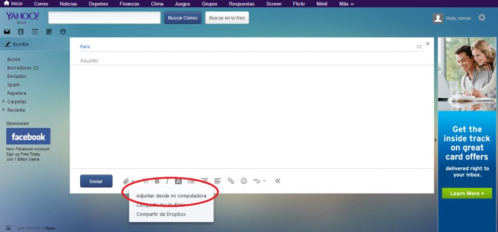 Como enviar un video por Yahoo