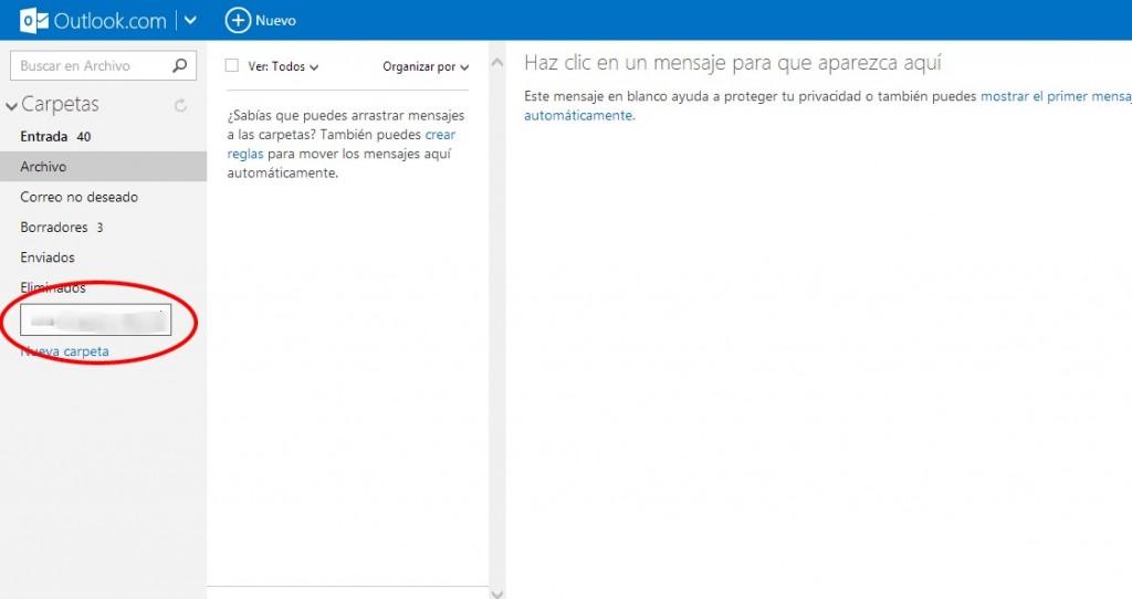 Cómo crear una Carpeta y Guardar Correos en Outlook (Hotmail)