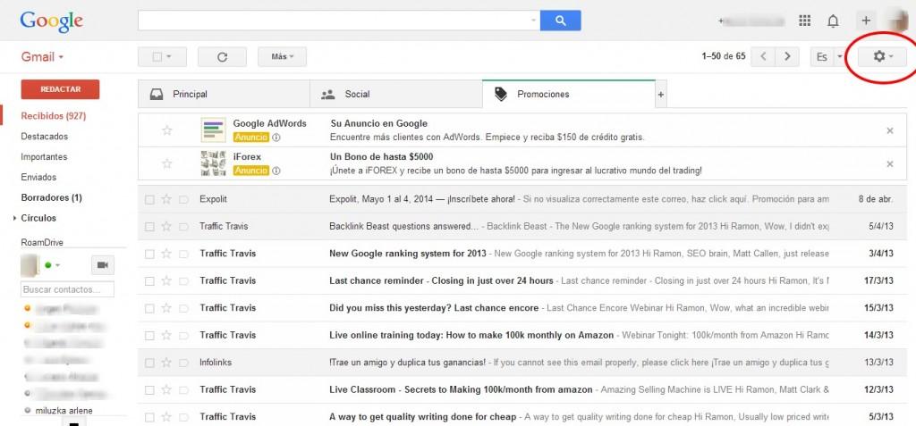 Cómo redireccionar correos de Gmail a Yahoo