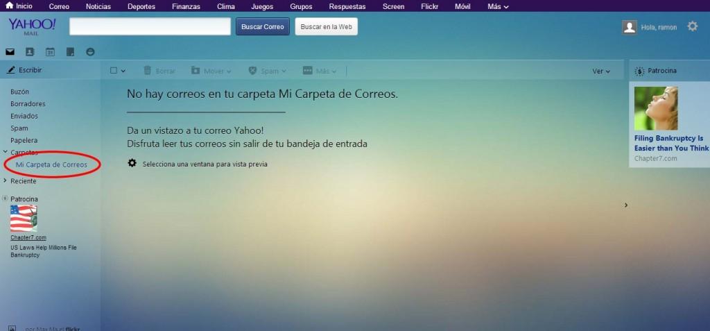 Guardar Correos en Yahoo
